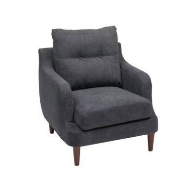 CorLiving Victoria Fabric Accent Chair with Sloped Armrests