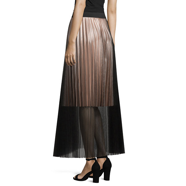 Project Runway Season Finale Winner Tulle Pleated Maxi Skirt