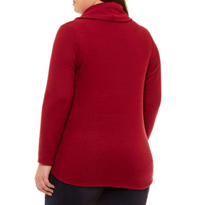 Alyx Long Sleeve Cowl Neck Pullover Sweater - Plus