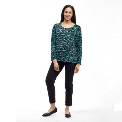 La Cera Brushed Sweater Knit Top - Plus