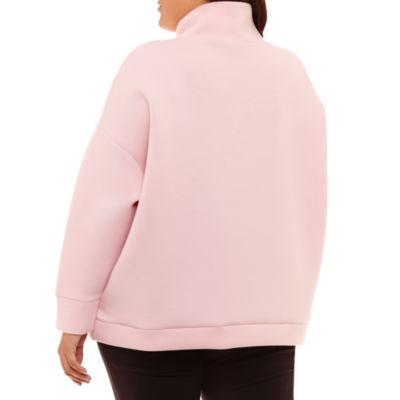 Project Runway Funnel Neck Sweatshirt-Plus