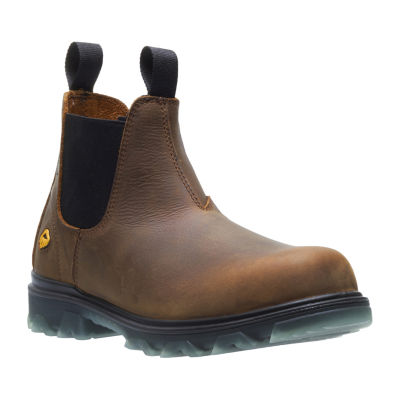 Wolverine Mens I-90 Waterproof Slip Resistant Work Boots Pull-on