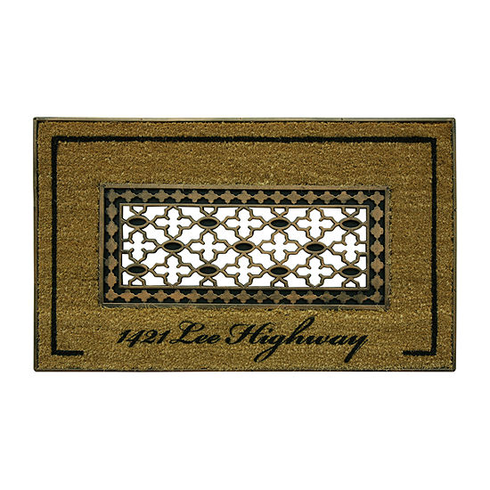 Bacova Guild Koko Framed Grate Printed Rectangular Outdoor Doormat