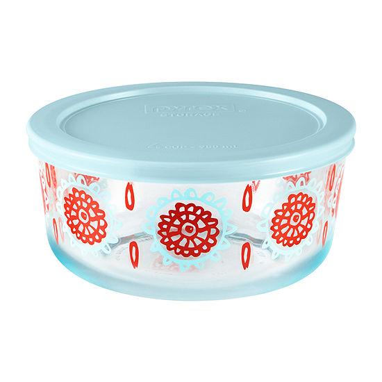 Pyrex Bloom Decorated Storage Set 4-pc. Bakeware Set