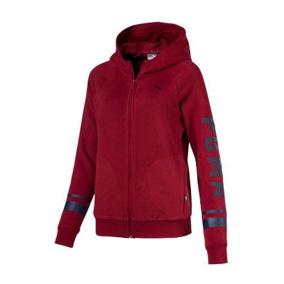 Puma Athletics Long Sleeve Knit Logo Hoodie