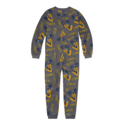Arizona Microfleece One Piece Pajama Long Sleeve Boys -Husky