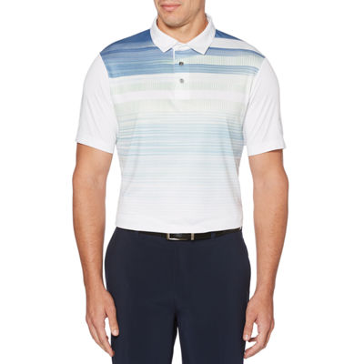 PGA TOUR Easy Care Short Sleeve Pattern Polo Shirt