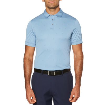 PGA TOUR Easy Care Short Sleeve Pattern Doubleknit Polo Shirt