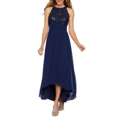 Scarlett Sleeveless High Low Evening Gown