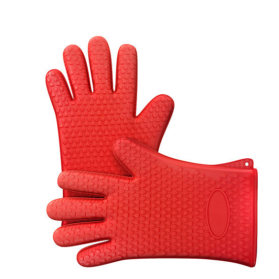 Chef Buddy Silicone Mitts/Gloves 2-pc. Mitt + Pot Holders