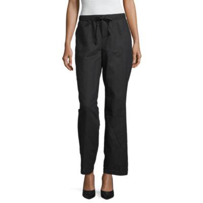 Liz Claiborne Womens Wide Leg Drawstring Pants
