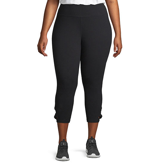 Xersion High Waisted Side Knot Capri - Plus