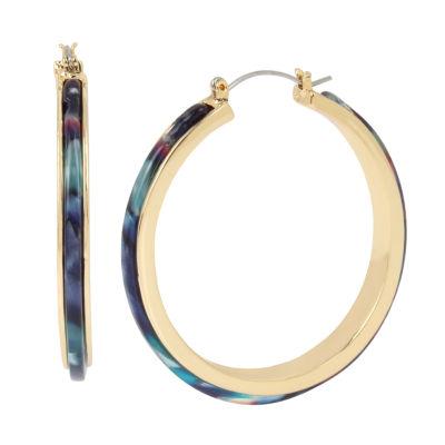 Worthington Brass 2 Inch Hoop Earrings