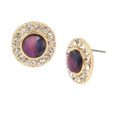 Worthington Brass 1/2 Inch Stud Earrings