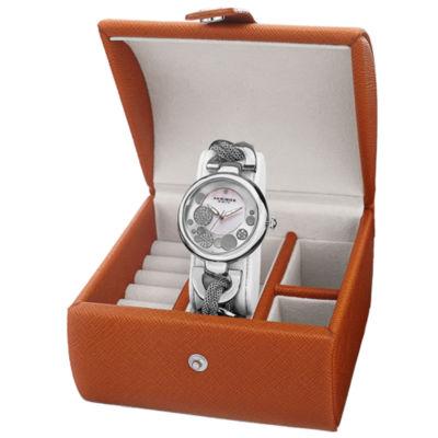 Akribos XXIV Womens Silver Tone Bracelet Watch-A-895ss-Bx