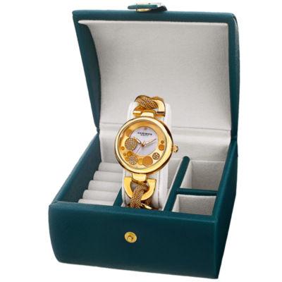 Akribos XXIV Womens Gold Tone Bracelet Watch-A-895yg-Bx