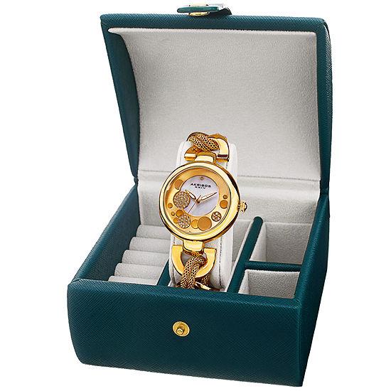 Akribos Xxiv Womens Gold Tone Bracelet Watch A 895yg Bx