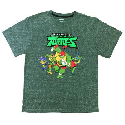 Ss Licensed Tees Boys Crew Neck Short Sleeve Teenage Mutant Ninja Turtles Graphic T-Shirt Preschool / Big Kid