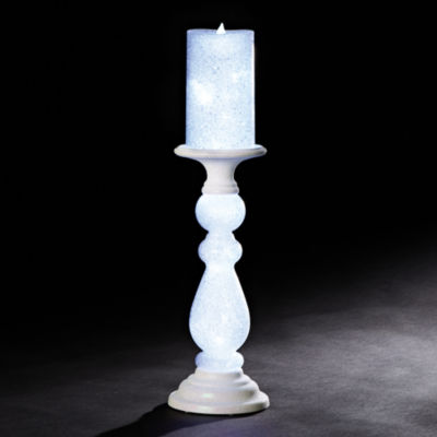 "Roman 18"" Candle on Stand with LED Lights"