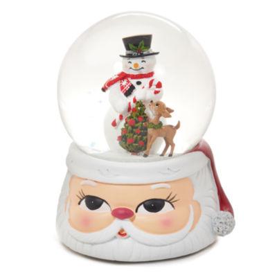 Roman Snowman with Santa Base Glitterdome