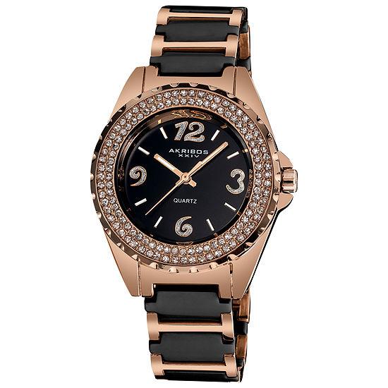 Akribos XXIV Womens Rose Goldtone Bracelet Watch-A-514rg