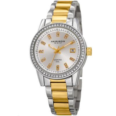 Akribos XXIV Womens Two Tone Bracelet Watch-A-928ttg
