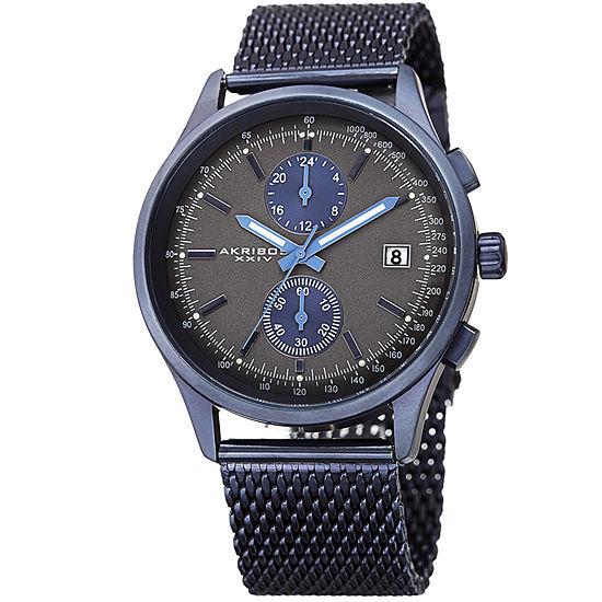 Akribos XXIV Mens Blue Bracelet Watch-A-944bu