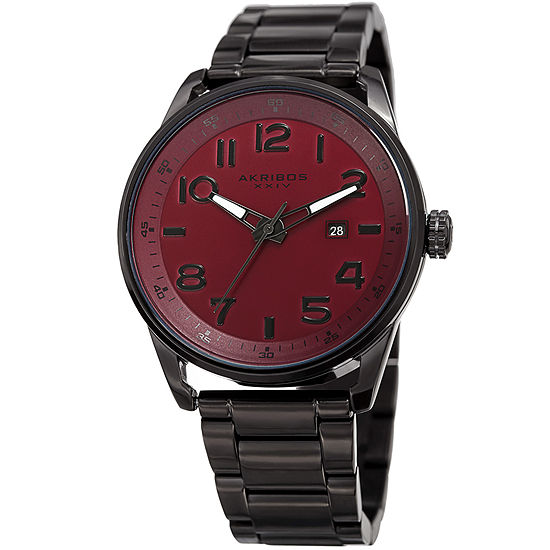 Akribos XXIV Mens Black Bracelet Watch-A-956rd