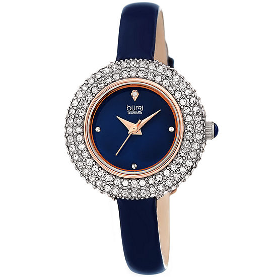 Burgi Womens Blue Strap Watch-B-195bu