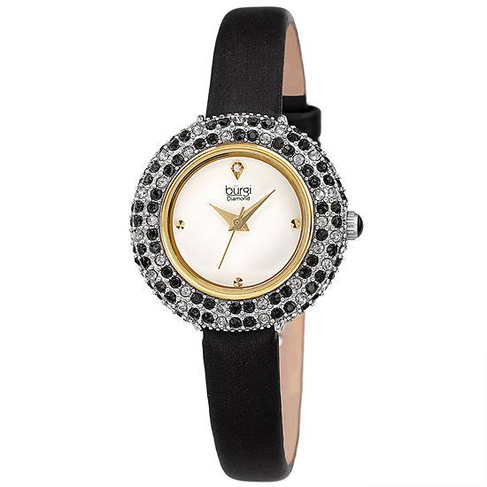 Burgi Womens Black Strap Watch-B-240bk