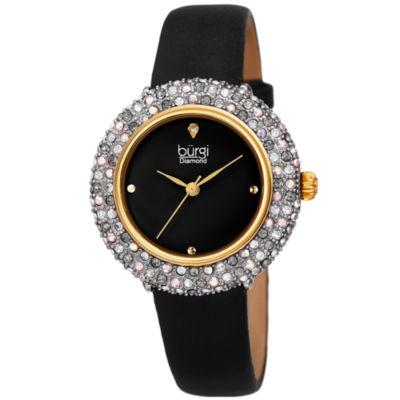 Burgi Womens Black Strap Watch-B-227bk
