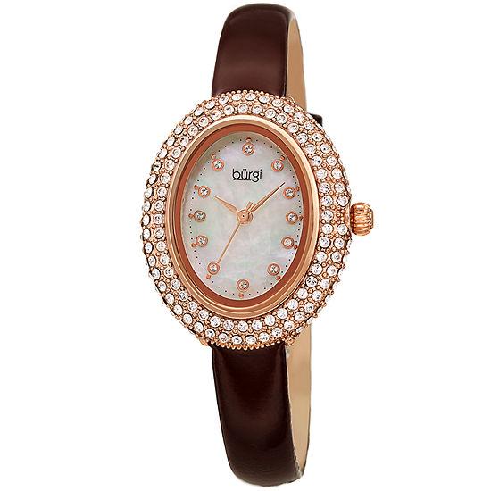 Burgi Womens Brown Strap Watch-B-234br