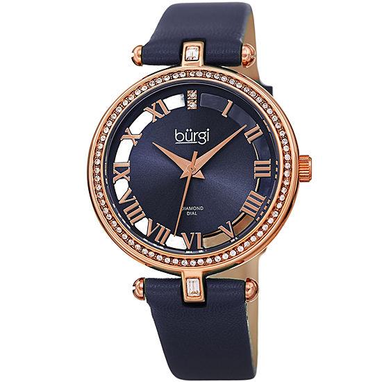 Burgi Womens Blue Strap Watch-B-228bu