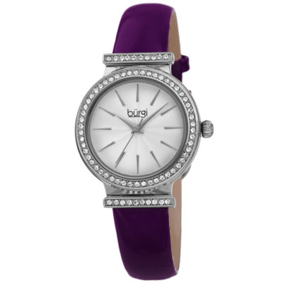 Burgi Mens Purple Strap Watch-B-230pu