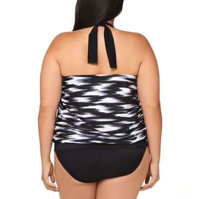 Trimshaper Control Blouson Swimsuit Top-Plus