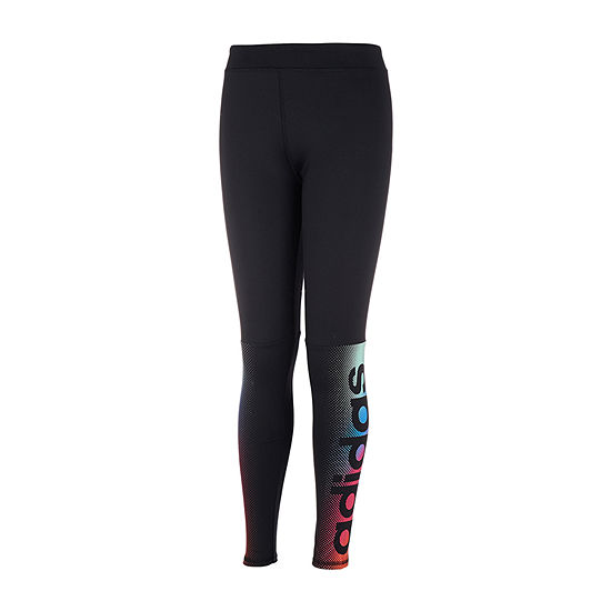 adidas Girls Mid Rise Legging - Preschool