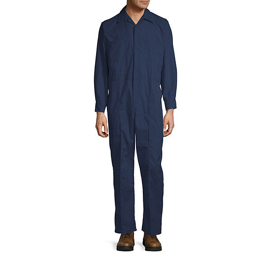 Sweet Company Long Sleeve Workwear Coveralls-Big and Tall Regular Length