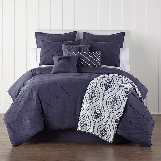 JCPenney Home Egan 10-pc. Embellished Comforter Set