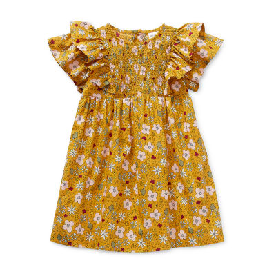 Okie Dokie Baby Girls Short Sleeve Babydoll Dress
