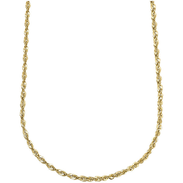 "10K Yellow Gold Hollow 18"" Rope Chain"