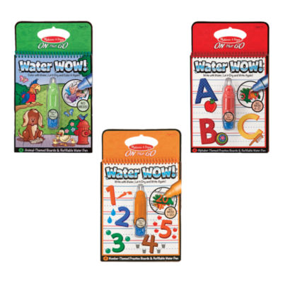 Melissa & Doug® Water Wow! - Bundle - Animals, Alphabet & Numbers