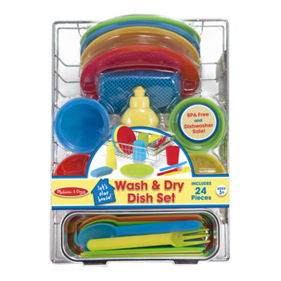 Melissa & Doug® Let's Play House! Wash & Dry Dish Set