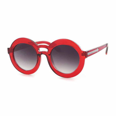 City Streets Womens Full Frame Round UV Protection Sunglasses