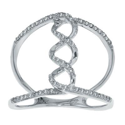 1/4 CT. T.W. White Diamond 10K Gold Cocktail Ring
