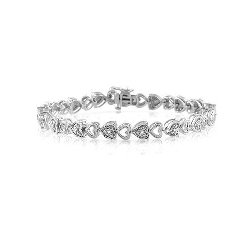 7.5 Inch 1/10 CT. T.W. White Diamond Link Bracelet
