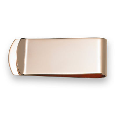 Personalized Arc End 14K Rose Gold Plated Money Clip