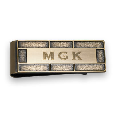 Antique Brass Die Struck Money Clip