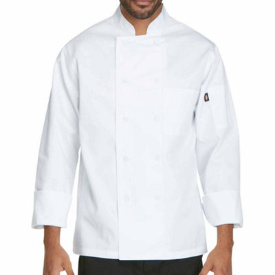 Dickies Unisex Cloth Covered Button Chef Coat-Big