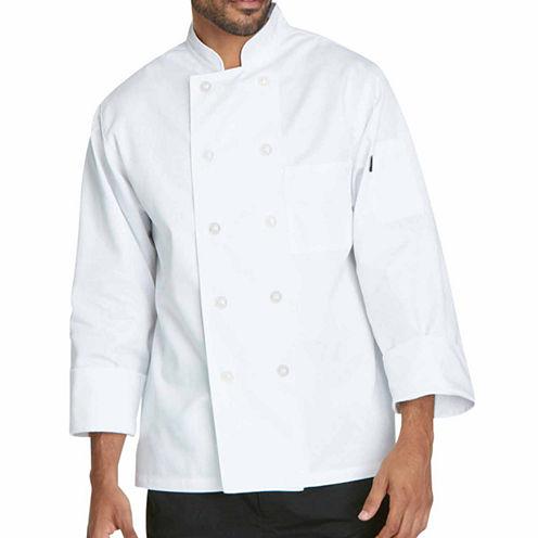 Dickies Unisex Short Sleeve Classic 10 Button Chef Coat - Big