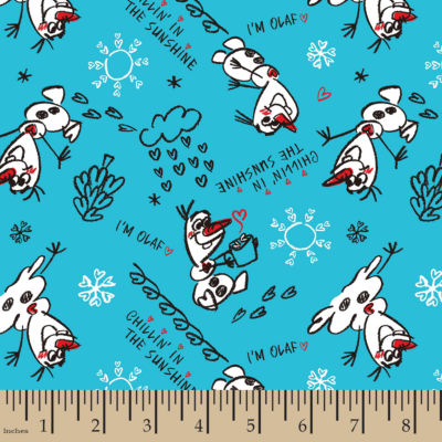 Disney Frozen Olaf Sketch Cotton Fabric